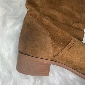 J. Crew Shoes - J. Crew Ryder pull on buckle suede mid calf boots